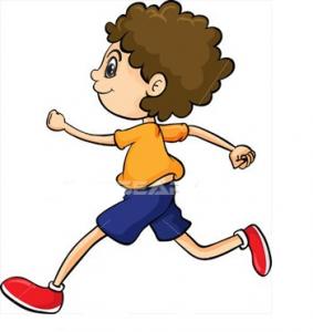 garçon qui coure