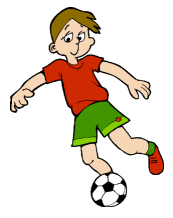 garçon qui joue au foot
