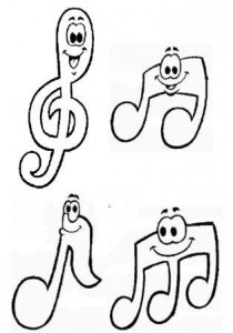 L 39 activit de d coupage en maternelle ps ms gs imprimer - Coloriage notes de musique ...