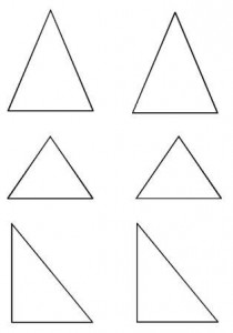 image découpage triangle