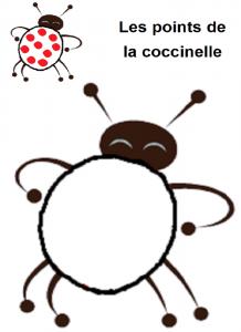image les points de la coccinelle, pâte à modeler modèle cioccinelle