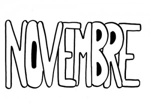 image paint 11 mois de novembre pour graphisme vierge