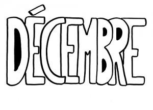 image paint 12 mois de décembre pour graphisme vierge