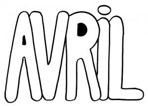 image paint 4 mois d'avril pour graphisme vierge