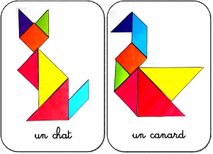 27 animaux en tangram maternelle animaux