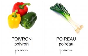 référentiel légumes vocabulaire en français