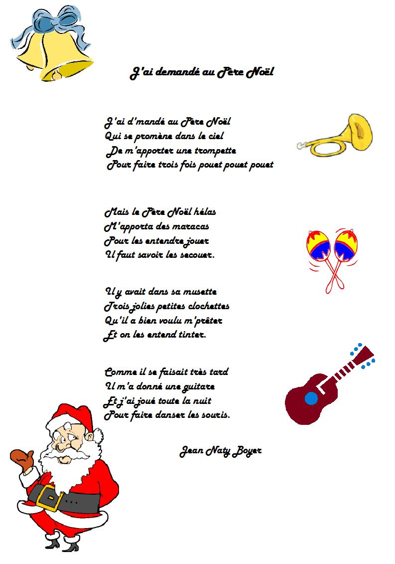 chanson j'ai demandé au Père Noël