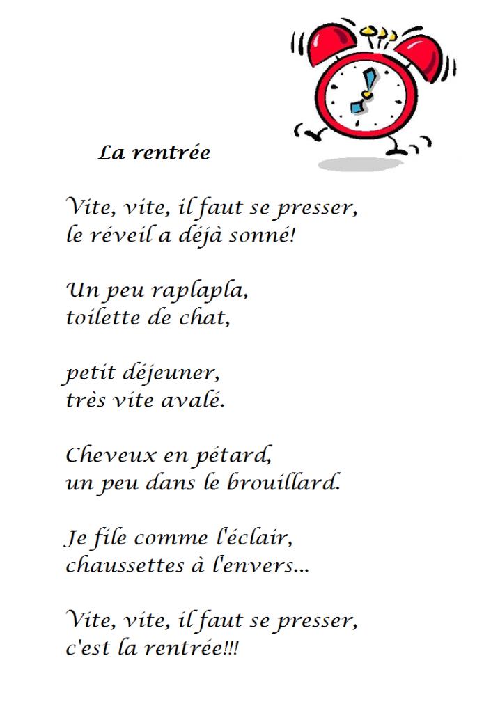 Poésie La rentrée de Sylvie Poillevé