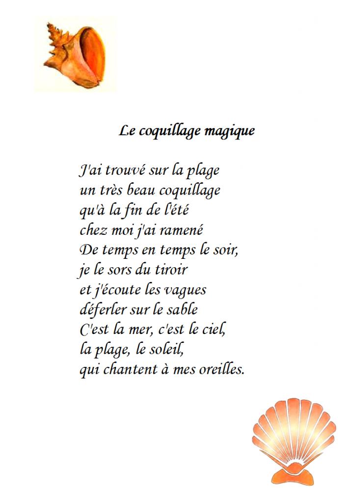 poésie le coquillage magique