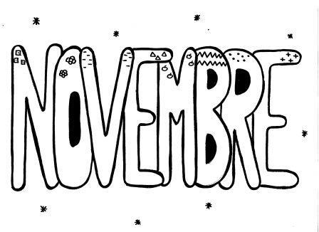 Les mois de l 39 ann e en graphisme l 39 cole de k 39 roline - Coloriage novembre ...