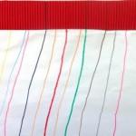 Lignes à partir de papier gaufré