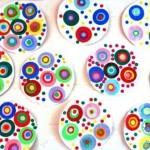 Collage de ronds du plus petit au plus grand