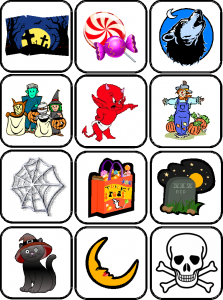 image flashcards halloween