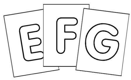 Alphabet majuscule Tubular