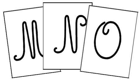 Alphabet majuscule cursive