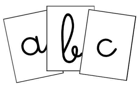 bandes alphabet individuelles gs