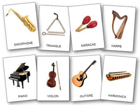Référentiel d'images instruments de musique