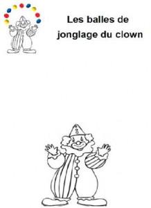 image les balles de jonglage du clown en pâte à modeler, atelier plasticine à imprimer