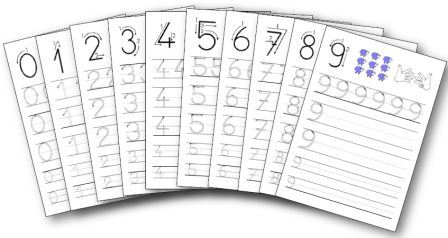 Ecriture des chiffres de 0 9 en maternelle - Nombre d ardoise au m2 ...