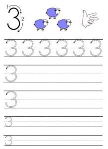 image écriture des chiffres en maternelle