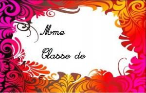 image affiche porte devant la classe