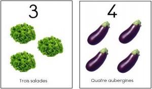 image affiche nombres 1 à 10 légumes