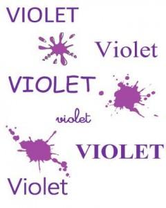 image affiche référentiel couleurs écrit dans différentes polices