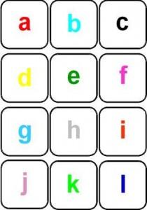 image jeu de mémory couleur des lettes scriptes (minuscules)