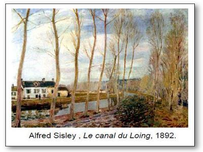Alfred Sisley Le canal du Loing