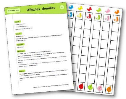 Allez les chenilles jeu mathématiques maternelle, jeu pour apprendre les couleurs