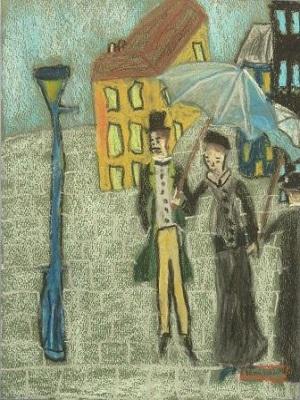 Gustave Caillebotte Rue de Paris temps de pluie production d'élève