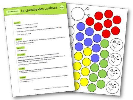 Jeu pour apprendre les couleurs la chenille des couleurs for Apprendre les livrets