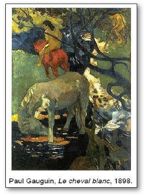 Paul Gauguin Le cheval blanc