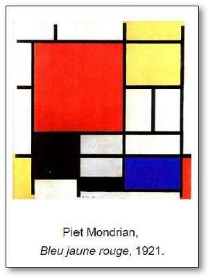 Piet Mondrian Bleu jaune rouge
