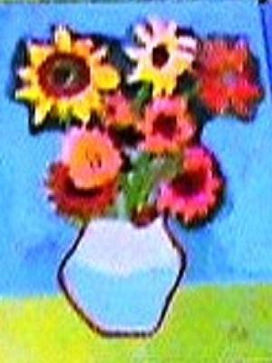 Van Gogh Les tournesols production d'élève