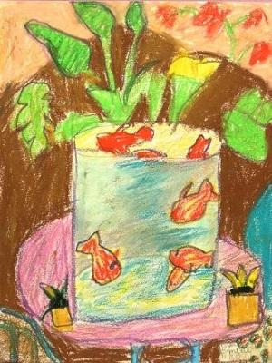Henri Matisse Les poissons rouges production d'élève