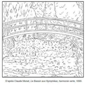 71 coloriages d 39 uvres d 39 artistes peintres imprimer for Piscine miroir en anglais