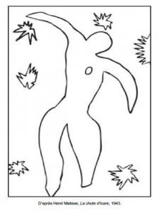 Coloriage Henri Matisse La chute d'Icare