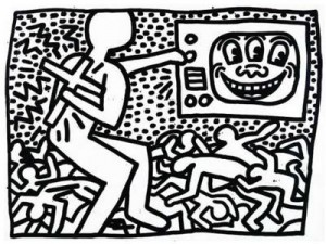 Coloriage Keith Haring 11