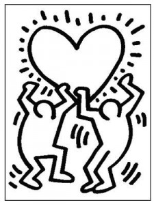 Coloriage Keith Haring