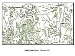 Coloriage Pablo Picasso Guernica