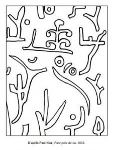 Coloriage Paul Klee Parc près de Lu