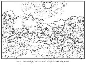 Arts visuels en maternelle id es d 39 activit s et - Coloriage van gogh ...