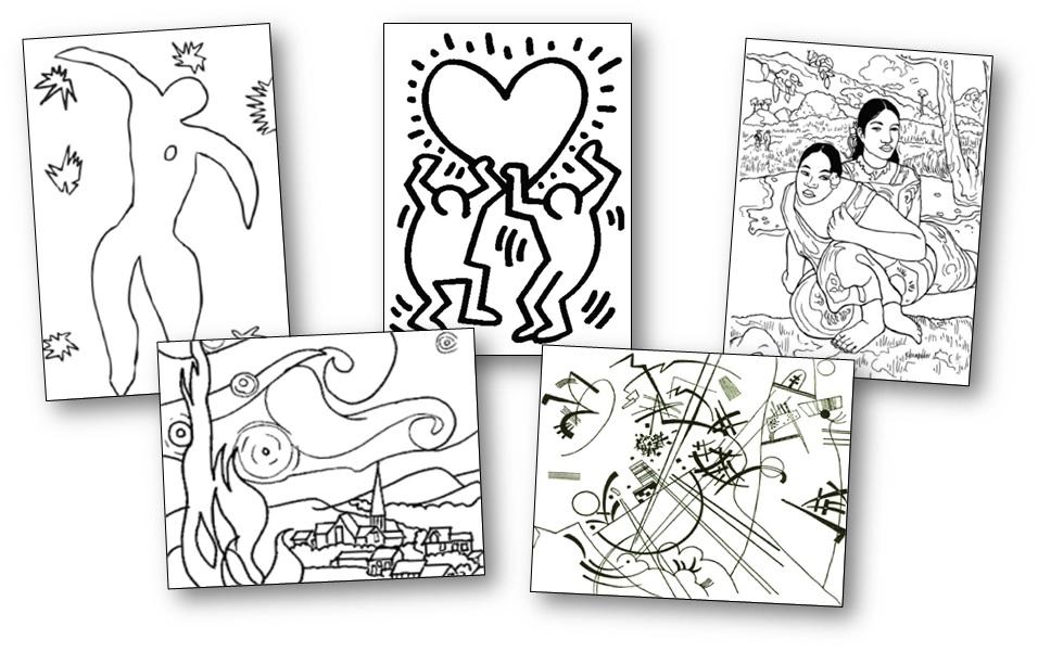 71 coloriages d 39 uvres d 39 artistes peintres imprimer for Artiste dessin