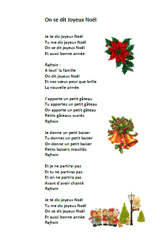 "chanson noël on se dit joyeux noël - paroles illustrées ""on se dit"