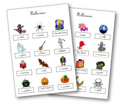 Leçons Halloween anglais