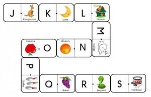 Dominos des lettres
