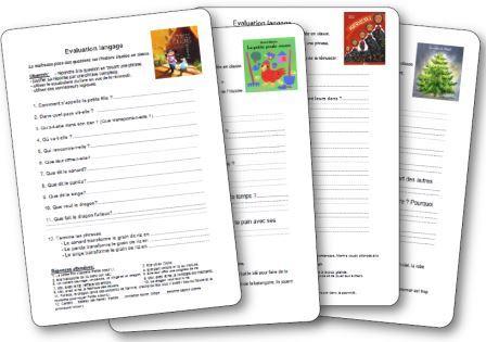 Evaluation langage en maternelle images des fiches d'évaluation à partir d'albums