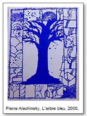 Pierre Alechinski L'arbre bleu