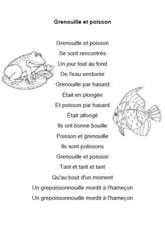Comptine Grenouille et poisson